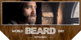 Online Editable World Beard Day Twitter Post