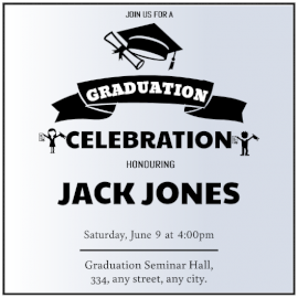 Online editable Graduation party invitation Invitation