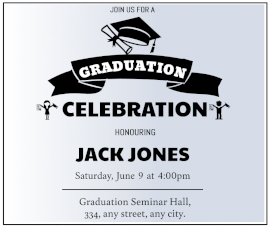 Online Editable Graduation Party Invitation Facebook Post