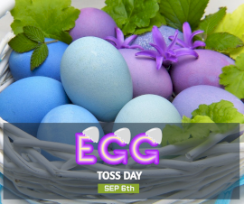 Online Editable Egg Toss Day September 6 Facebook Post