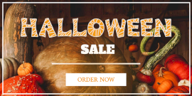 Online Editable Halloween Sale Twitter Post