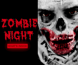 Online Editable Zombie Night Party Facebook Post