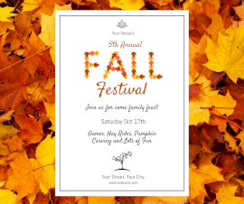 Online Editable Annual Fall Festival Facebook Post