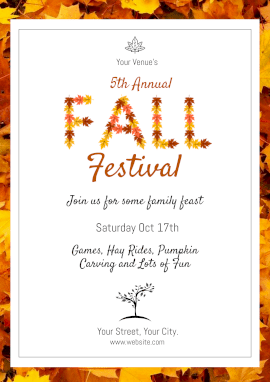 Online Editable Fall Festival Events Poster