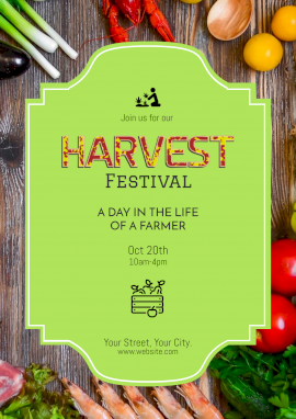 Online Editable Harvest Day Festival Poster