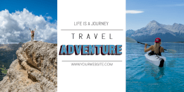 Online Editable Travel Adventure Twitter Post
