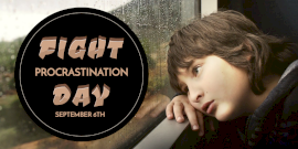 Online Editable Fight Procrastination Day Twitter Post