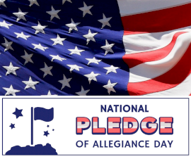Online Editable National Pledge of Allegiance Day Facebook Post