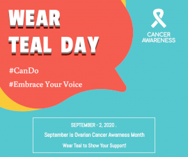 Online Editable Wear Teal Day September 2 Facebook Post