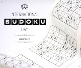Online Editable International Sudoku Day September 9 Facebook Post