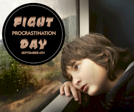 Online Editable Fight Procrastination Day September 6 Facebook Post