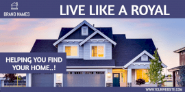 Online Editable Real Estate Twitter Post