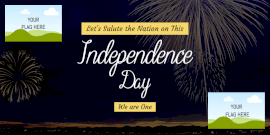 Online Editable Independence Day Wishes Twitter Post
