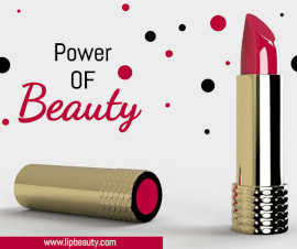 Online Editable White Power of Beauty Lipstick Facebook Post