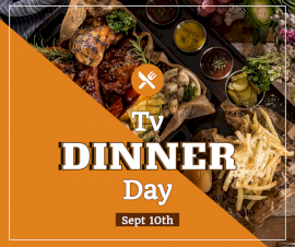 Online Editable TV Dinner Day September 10 Facebook Post