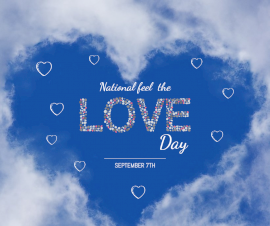 Online Editable National Feel The Love Day September 7 Facebook Post