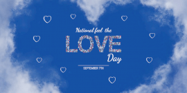 Online Editable National Feel the Love Day Twitter Post