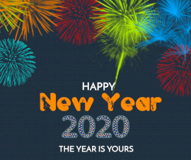Online Editable New Year Greeting Facebook Post