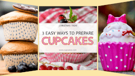 Online Editable Christmas Cupcakes Fancy Text 3 Grid Photo Collage