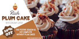 Online Editable Plum Cake Sale Twitter Post