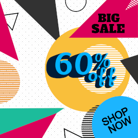 Online Editable Abstract Big Sale Discount GIF Post