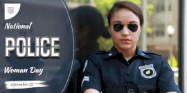 Online Editable National Police Woman Day Twitter Post