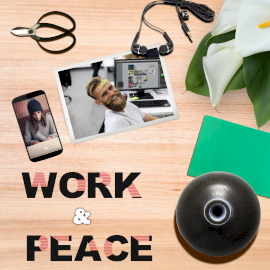 Online Editable Brown Work & Peace Photo Mockup