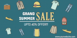 Online Editable Grand Summer Sale Twitter Post