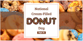 Online Editable National Cream-Filled Donut Day Twitter Post
