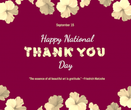Online Editable National Thank You Day September 15 Facebook Post