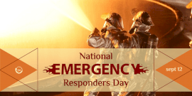 Online Editable National Emergency Responders Day Twitter Post