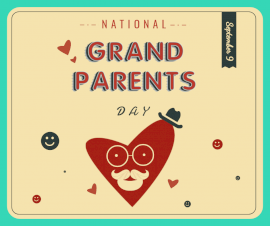 Online Editable National Grandparent Day September 16 Facebook Post