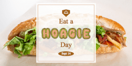 Online Editable National Eat A Hoagie Day Twitter Post