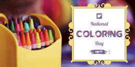 Online Editable National Coloring Day Twitter Post