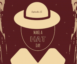 Online Editable Make a Hat Day September 15 Facebook Post