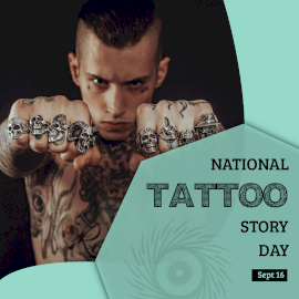 Natinal Tattoo Story Day - Instagram Post