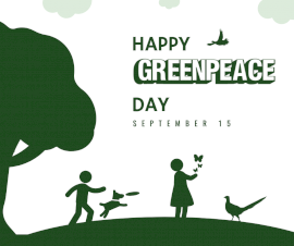 Online Editable Greenpeace Day September 15 Facebook Post