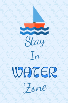 Stay In Water Zone - Pinterest Graphic