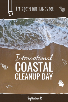 International Coastal Cleanup day - Pinterest Graphic