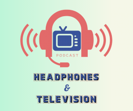 Online Editable Headphones & Television Podcast Artwork Facebook Post