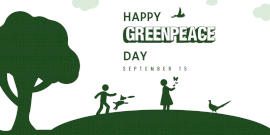 Online Editable Happy Greenpeace Day Twitter Post