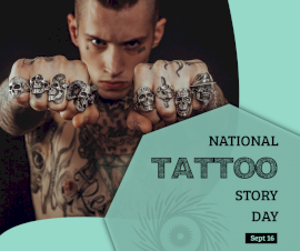 Online Editable National Tattoo Story Day September 16 Facebook Post