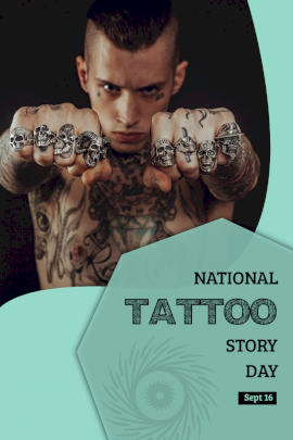 National Tattoo Story Day - Pinterest Graphic