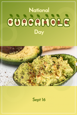 National Guacamole Day - Pinterest Graphic