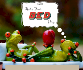 Online Editable Make Your Bed Day September 11 Facebook Post