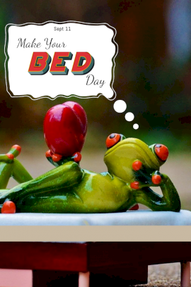 Make Your Bed Day - Pinterest Graphic