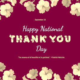 National Thank You Day - Instagram Post