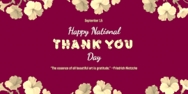 Online Editable National Thank You Day Twitter Post