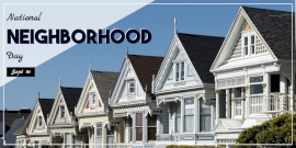 Online Editable National Neighborhood Day Twitter Post