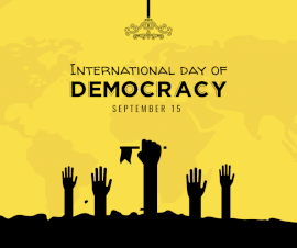 Online Editable International Day of Democracy September 15 Facebook Post